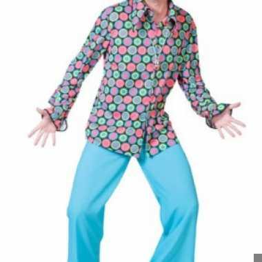 Overhemd met 70s disco print voor heren