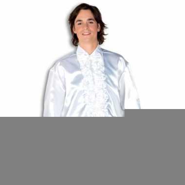 Overhemd wit met rouches heren