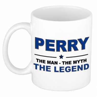 Perry the man the myth the legend collega kado mokken bekers 300 ml trend