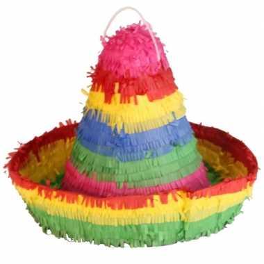 Pinata grote ronde hoed 38 cm