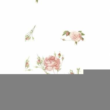 Pioenrozen print tafellaken/tafelkleed 138 x 220 cm