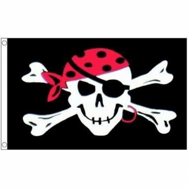Piratenvlag met schedel