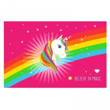 Placemat eenhoorn regenboog 44 x 28 cm trend