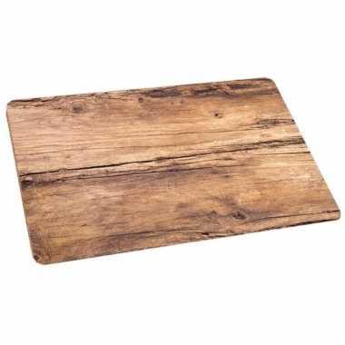 Placemat eikenhout opdruk 44 x 28 5 cm trend