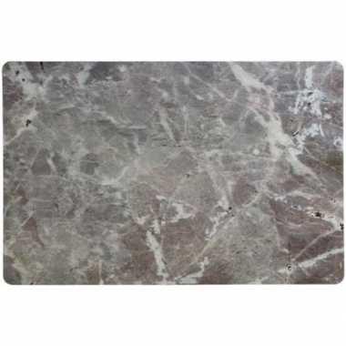 Placemat marmer grijs 43 x 28 cm trend