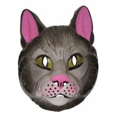 Plastic katten masker voor volwassenen trend