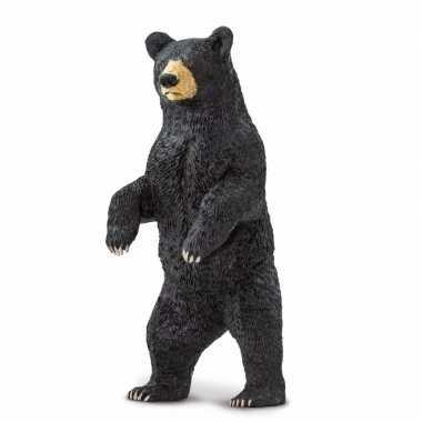 Plastic zwarte beer 10 cm