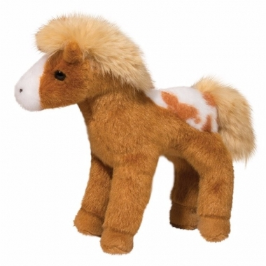 Pluche appaloosa paard knuffel lichtbruin 20 cm trend