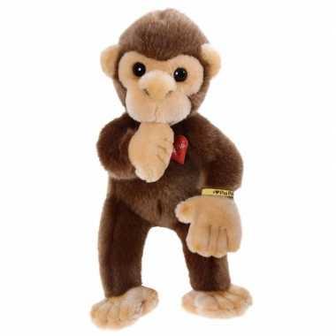 Pluche bruin baby aapje knuffel 30 cm trend