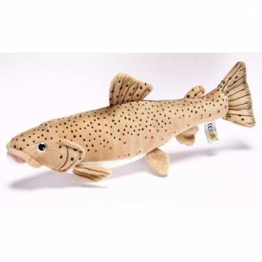 Pluche bruine forel vissen knuffel 43 cm trend