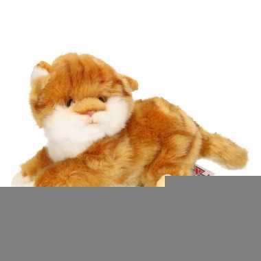 Pluche bruine kitten poes knuffel 27 cm trend