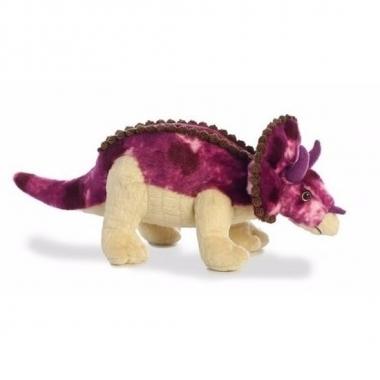 Pluche dinosaurus knuffel triceratops 33 cm trend
