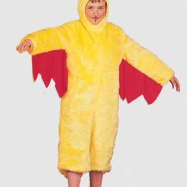 Pluche gele kip kinder kostuum