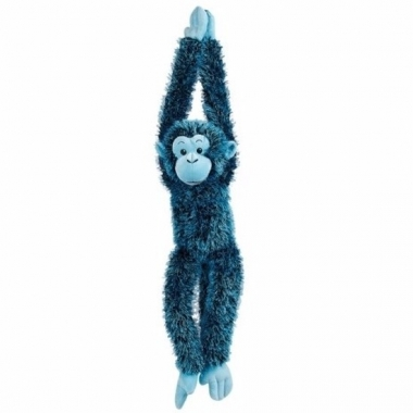 Pluche hangende blauwe aap knuffel 84 cm trend