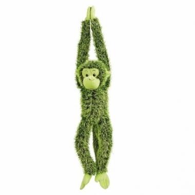 Pluche hangende groene aap knuffel 84 cm trend