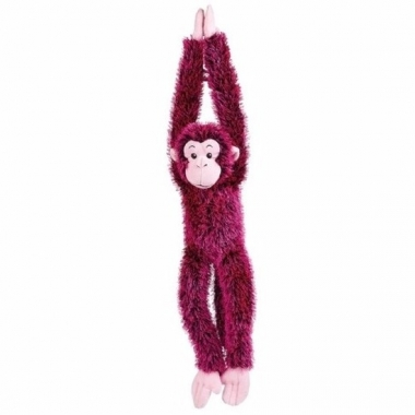 Pluche hangende roze aap knuffel 84 cm trend