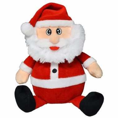 Pluche kerstman knuffel 25 cm