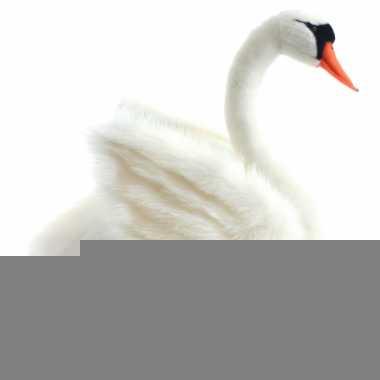 Pluche witte zwaan 27 cm trend