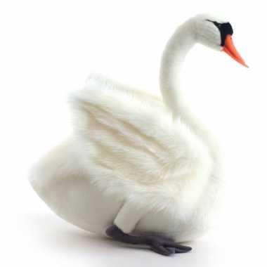 Pluche witte zwaan 45 cm trend