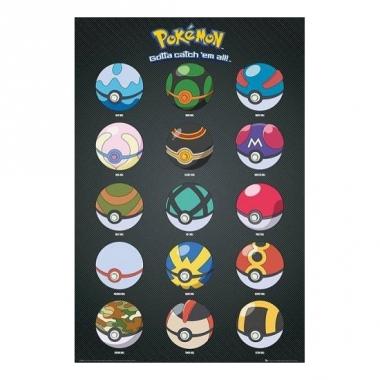 Pokemon poster pokeballs
