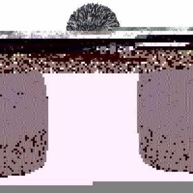 Pompon mutsen met winter print