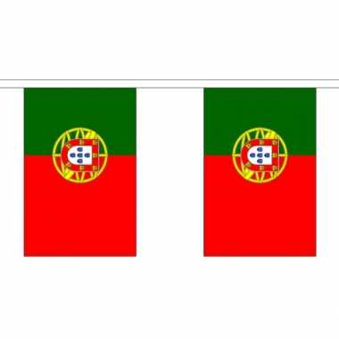 Portugal vlaggenlijn van stof 3 m trend