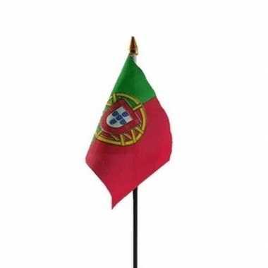 Portugal vlaggetje met stokje trend