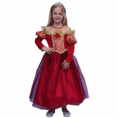 Prinsessen kostuum voor meisjes in de kleur rood