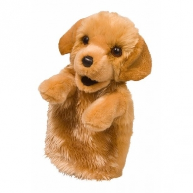 Puppy handpop knuffel hond 28 cm trend