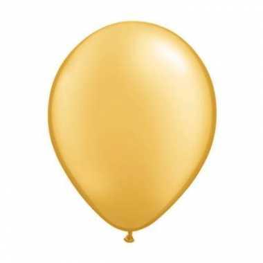 Qualatex metallic gouden ballonnen