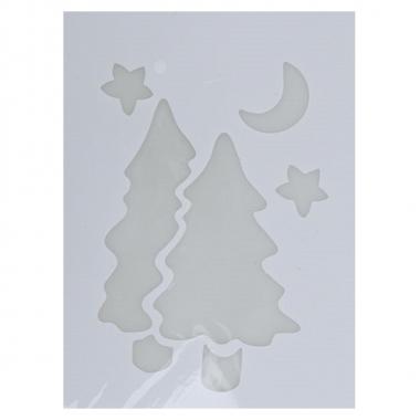 Raamsjabloon kerstboom 35 cm