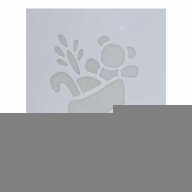 Raamsjabloon kerstsok 35 cm