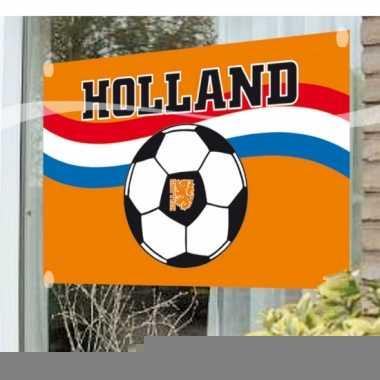 Raamvlag met voetbal print
