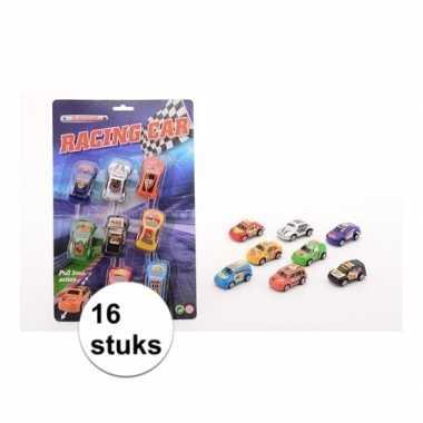 Race autootjes 16 stuks