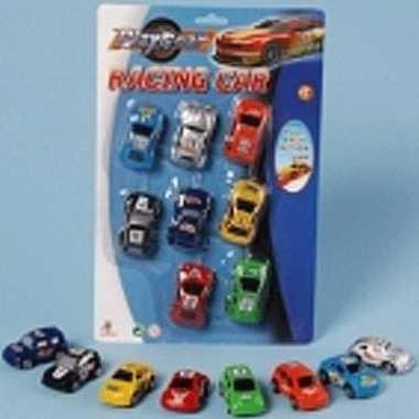 Race autootjes 8 stuks