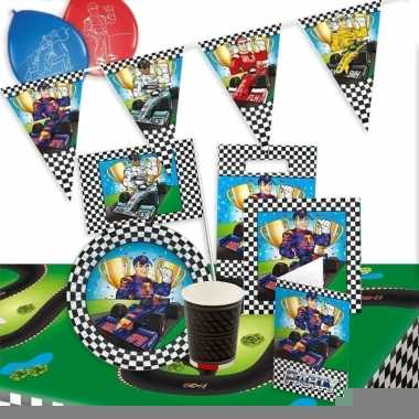 Race/formule 1 thema kinderfeest pakket