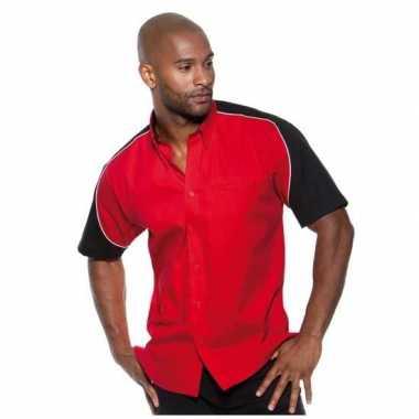 Race shirt rood voor heren