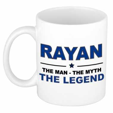 Rayan the man the myth the legend collega kado mokken bekers 300 ml trend