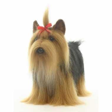 Realistische yorkshire terrier knuffel 38 cm