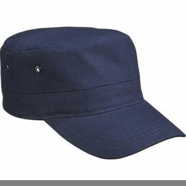 Rebel militairen baseballcap navy
