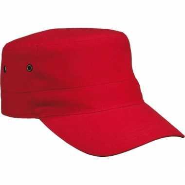 Rebel militairen baseballcap rood