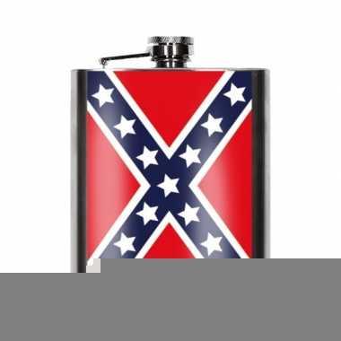Rebelse vlag heupfles 200 ml