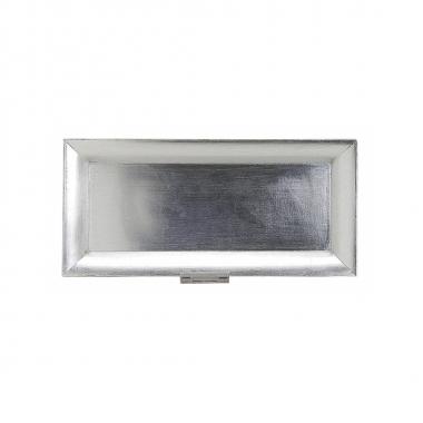 Rechthoekig bord zilver 36 x 17 cm
