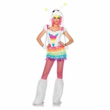 Regenboog gekleurd kostuum voor dames
