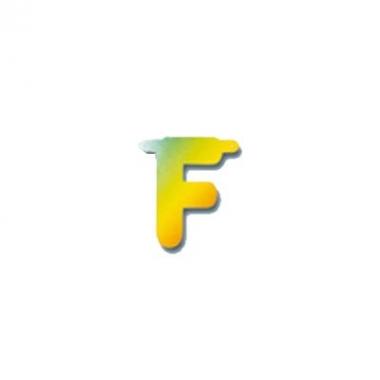 Regenboog letters f