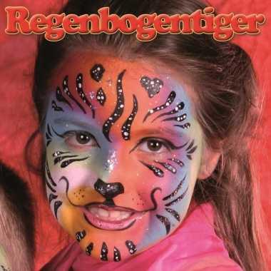 Regenboog tijger schminken schminkset 6-delig