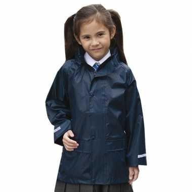 Regenjas winddicht navy blauw voor meisjes