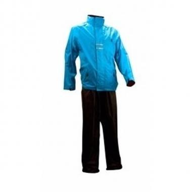 Regenpak blauw/zwart voor volwassenen