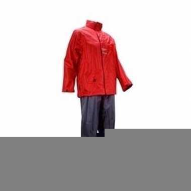 Regenpak rood/antraciet voor volwassenen