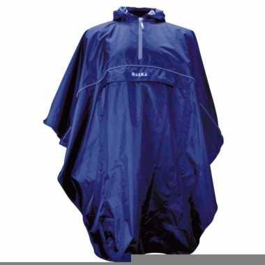 Regenponcho duurzaam kleur blauw